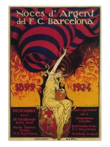 Barcelona, Spain - Soccer Promo Poster by Lantern Press