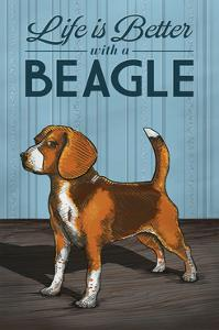 Beagle - Life is Better by Lantern Press