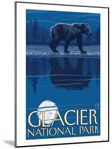 Bear in Moonlight, Glacier National Park, Montana by Lantern Press