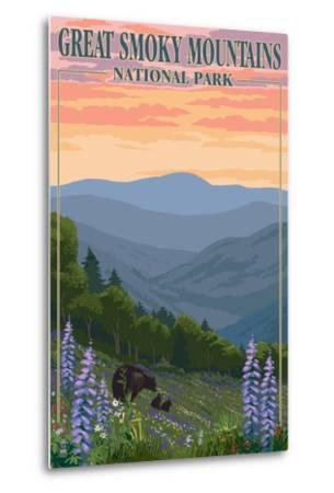 Bears and Spring Flowers - Great Smoky Mountains National Park, TN