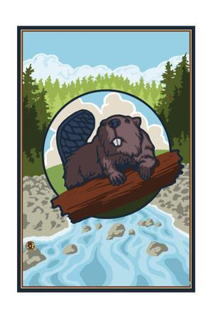 Beaver and River