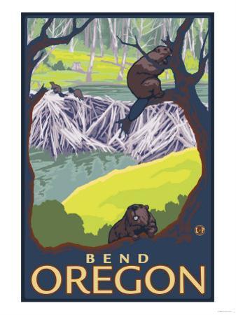Beaver Family, Bend, Oregon by Lantern Press