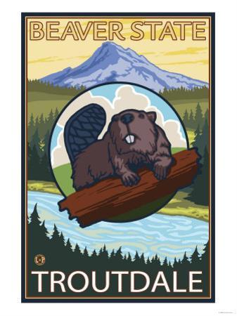 Beaver & Mt. Hood, Troutdale, Oregon