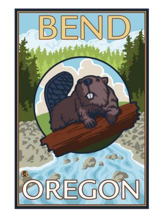 Beaver & River, Bend, Oregon