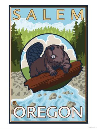 Beaver & River, Salem, Oregon
