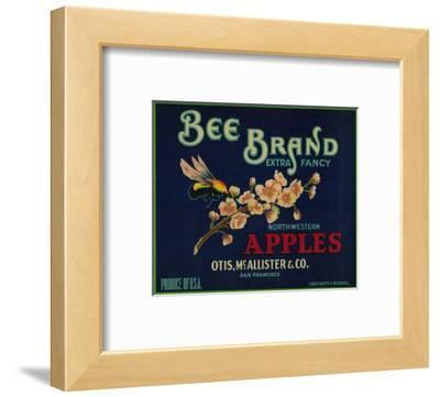 Bee Apple Crate Label - San Francisco, CA