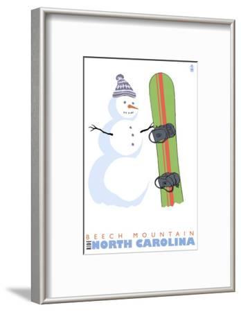 Beech Mountain, North Carolina, Snowman with Snowboard