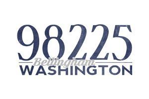 Bellingham, Washington - 98225 Zip Code (Blue) by Lantern Press