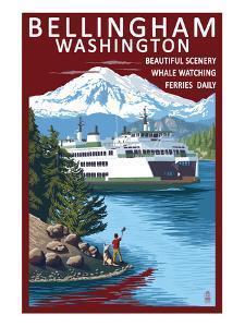 Bellingham, Washington - Ferry Scene by Lantern Press