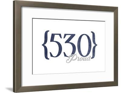 Berkeley, California - 530 Area Code (Blue)