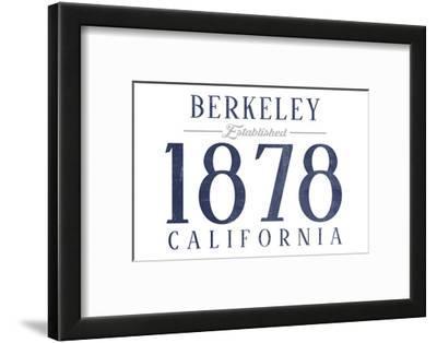 Berkeley, California - Established Date (Blue)
