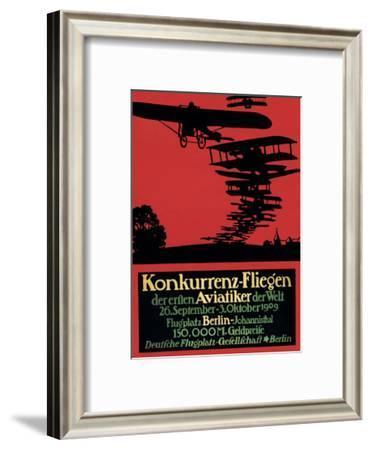 Berlin, Germany - Konkurrenz-Fliegen Airfield Promotional Poster