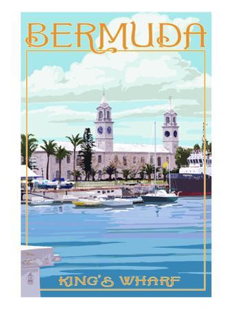 Bermuda - King's Wharf by Lantern Press