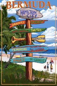 Bermuda - Sign Destinations by Lantern Press