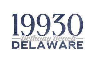 Bethany Beach, Delaware - 19930 Zip Code (Blue) by Lantern Press