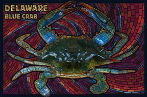 Bethany Beach, Delaware - Blue Crab Mosaic by Lantern Press