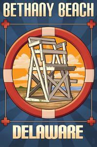 Bethany Beach, Delaware - Lifeguard Chair by Lantern Press