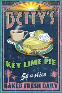 Bettys Key Lime Pie - Vintage Sign by Lantern Press