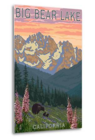 Big Bear Lake, California - Bears and Spring Flowers