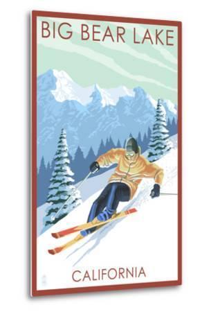 Big Bear Lake - California - Downhill Skier