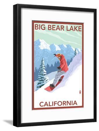 Big Bear Lake - California - Snowboarder