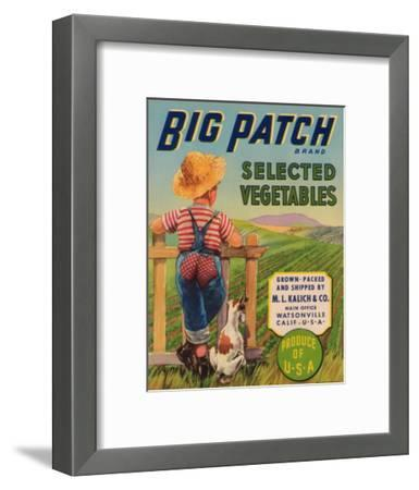 Big Patch Vegetable Label - Watsonville, CA