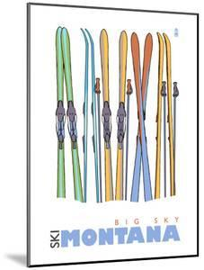 Big Sky, Montana, Skis in the Snow by Lantern Press