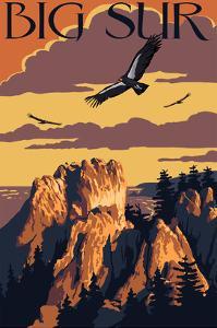 Big Sur, California - Condors by Lantern Press
