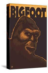 Bigfoot Face by Lantern Press