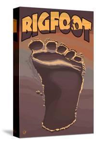 Bigfoot Footprint by Lantern Press