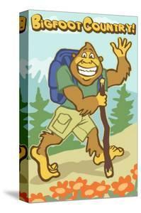 Bigfoot Hiker by Lantern Press