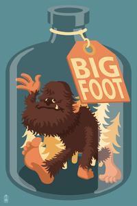 Bigfoot in a Bottle by Lantern Press
