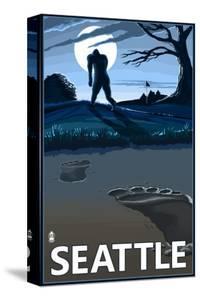 Bigfoot Scene in Seattle, WA by Lantern Press