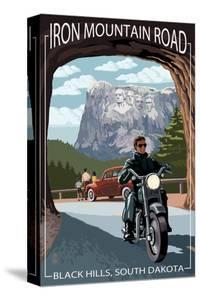Black Hills, South Dakota - Iron Mountain Road Biker Scene by Lantern Press
