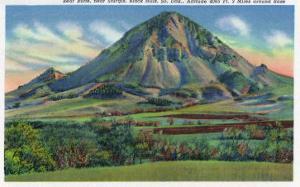 Black Hills, South Dakota - Panoramic View of Bear Butte Near Sturgis, c.1935 by Lantern Press
