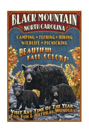 Black Mountain, North Carolina - Black Bears Vintage Sign