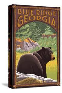 Blue Ridge, Georgia - Bear in Forest by Lantern Press