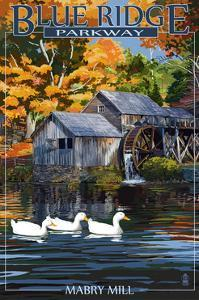 Blue Ridge Parkway - Mabry Mill by Lantern Press