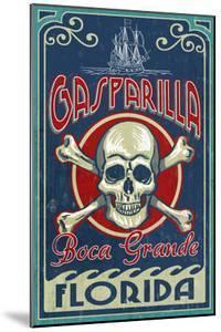 Boca Grande, Florida - Gasparilla Skull and Crossbones by Lantern Press