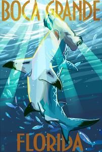 Boca Grande, Florida - Hammerhead Shark by Lantern Press