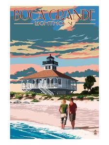 Boca Grande, Florida - Lighthouse by Lantern Press