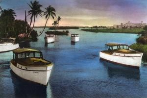 Boca Raton, Florida - Deep Sea Fishing Fleet Scene by Lantern Press