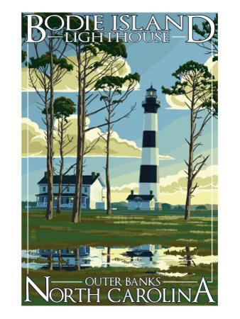 Bodie Island Lighthouse - Outer Banks, North Carolina by Lantern Press