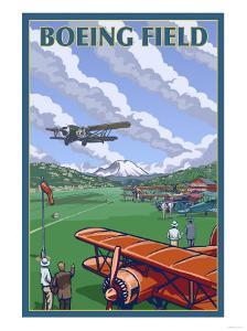 Boeing Field, Seattle, Washington by Lantern Press