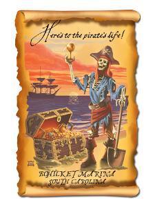 Bohicket Marina, South Carolina - Pirate Plunder by Lantern Press
