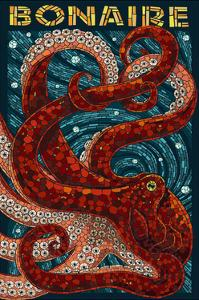Bonaire, Dutch Caribbean - Octopus Mosaic by Lantern Press
