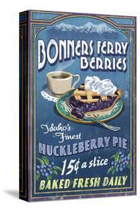 Bonners Ferry, Idaho - Huckleberry Pie by Lantern Press