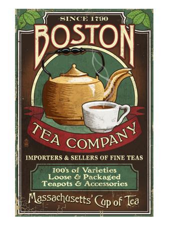 Boston, Massachusetts - Boston Tea by Lantern Press