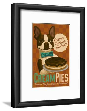 Boston Terrier - Retro Cream Pie Ad