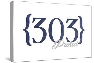 Boulder, Colorado - 303 Area Code (Blue)